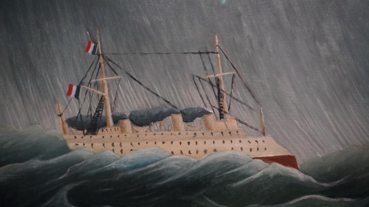 Henri Julien Félix Rousseau, dit Le Douanier Rousseau, Navire dans la tempête, vers 1899 (détail)