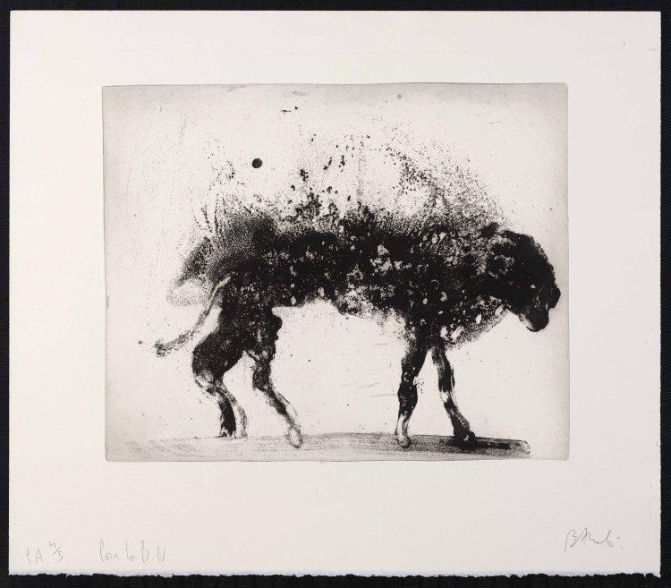 Miquel Barceló. « ANIMAL MOUILLÉ », LANZAROTE 8 1999