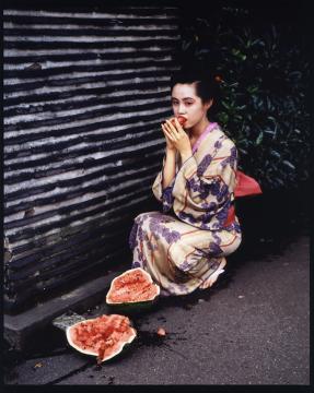 Paysages avec couleurs (Colourscapes) 1991 impression numérique H. 101,6 cm ; L. 125,8 cm Yoshii Gallery, inv. YG-10907-NA © Nobuyoshi Araki / Courtesy Taka Ishii Gallery