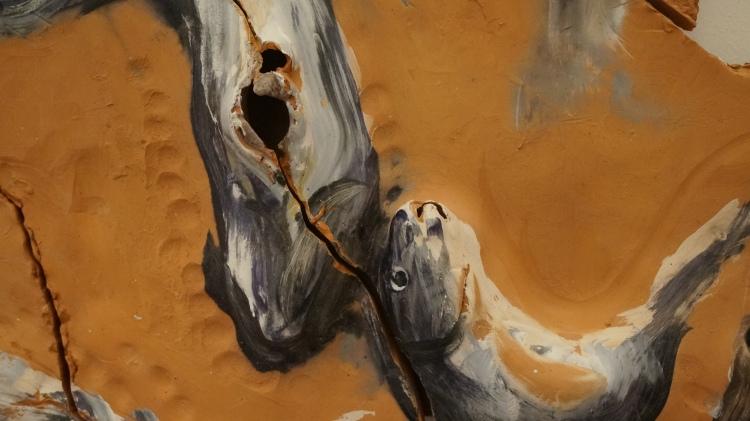 Miquel Barceló, Fragment de maquette pour la cathédrale de Palma de Majorque. Intervention sur les murs de la chapelle San Pere, 2001-2003 (détail)