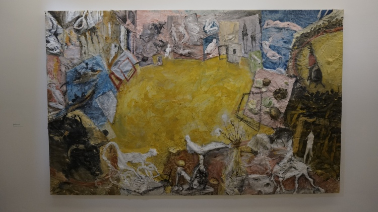 Miquel Barceló, Atelier avec six taureaux, 1994