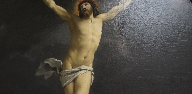 Simon Vouet, Christ en Croix (détail)