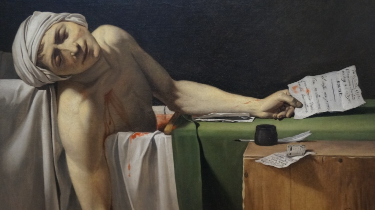 Jacques-Louis David, Marat assassiné, 1793 (détail)