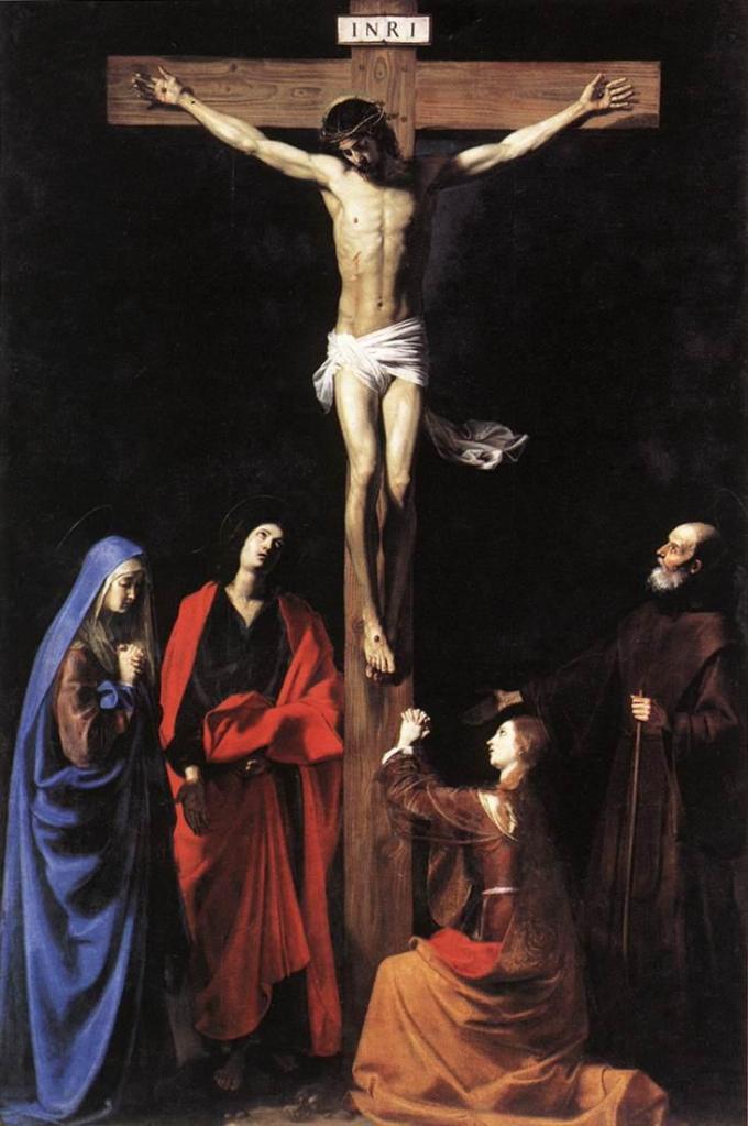 Nicolas Tournier, Le Christ en Croix, la Vierge, la Madeleine, saint Jean et Saint François de Paule, 1628