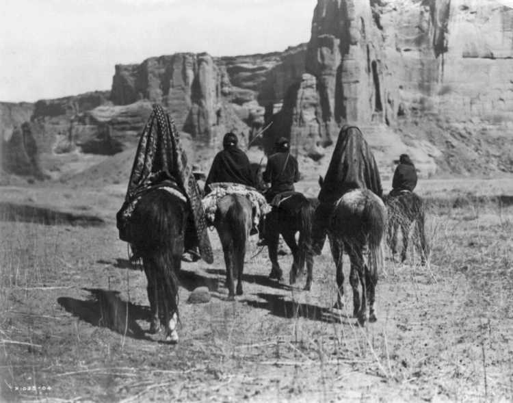 Edward S. Curtis, Groupe de Najavo à cheval