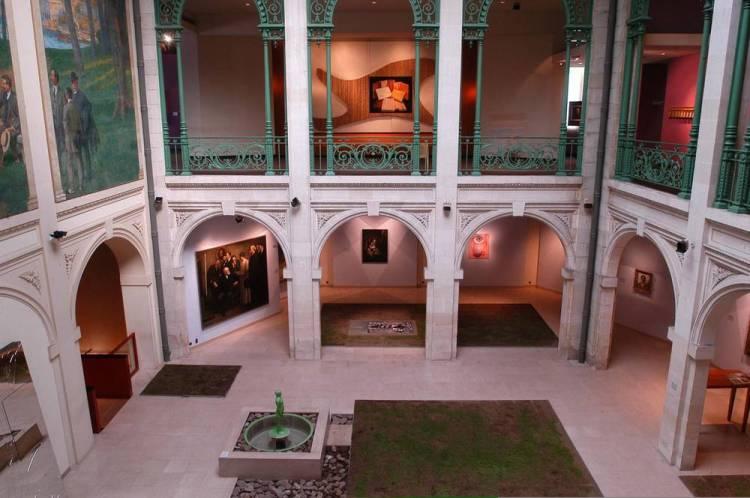 Le patio du musée Bonnat-Helleu, avant sa fermeture au public. / ⓒ bayonne.fr