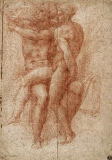 Michel Ange, Adam et Ève, sanguine