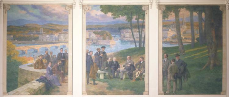 Henri Zo, Triptyque Bayonnais, huile sur toile, 1913