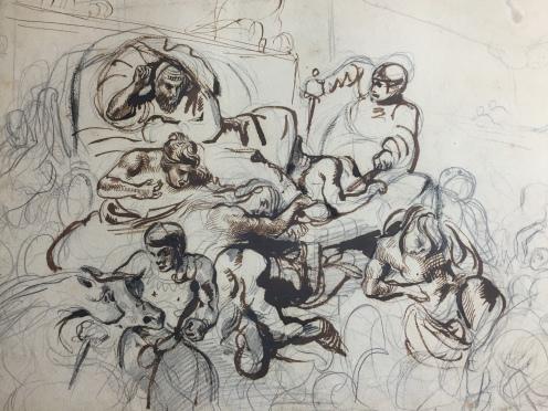 Eugène Delacroix, Étude pour La Mort de Sardanapale
