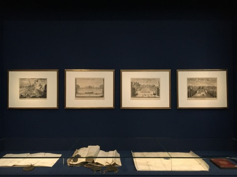 Le mythe de Le Brun, première salle de l'exposition. © Damien Tellas