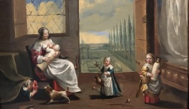 Charles Le Brun, L'Enfance, huile sur bois, vers 1639-1640, Genève, coll. part. © Damien Tellas