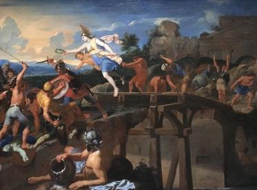 Charles Le Brun, Horatius Coclès défendant le pont Sublicius, huile sur toile, vers 1643-1645, Londres, Dulwich Picture Gallery. © Damien Tellas