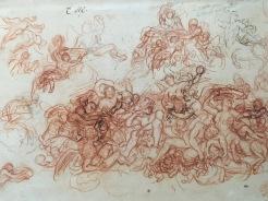 Charles Le Brun, Allégorie de l'Automne, sanguine, pierre noire, plume et encre noire, vers 1657-1660, Paris, musée du Louvre. © Damien Tellas