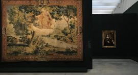 Manufacture des Gobelins, atelier de Jean de La Croix, Terpsichore, tapisserie de basse lisse, laine, soie et or, Paris, Mobilier national. © Damien Tellas