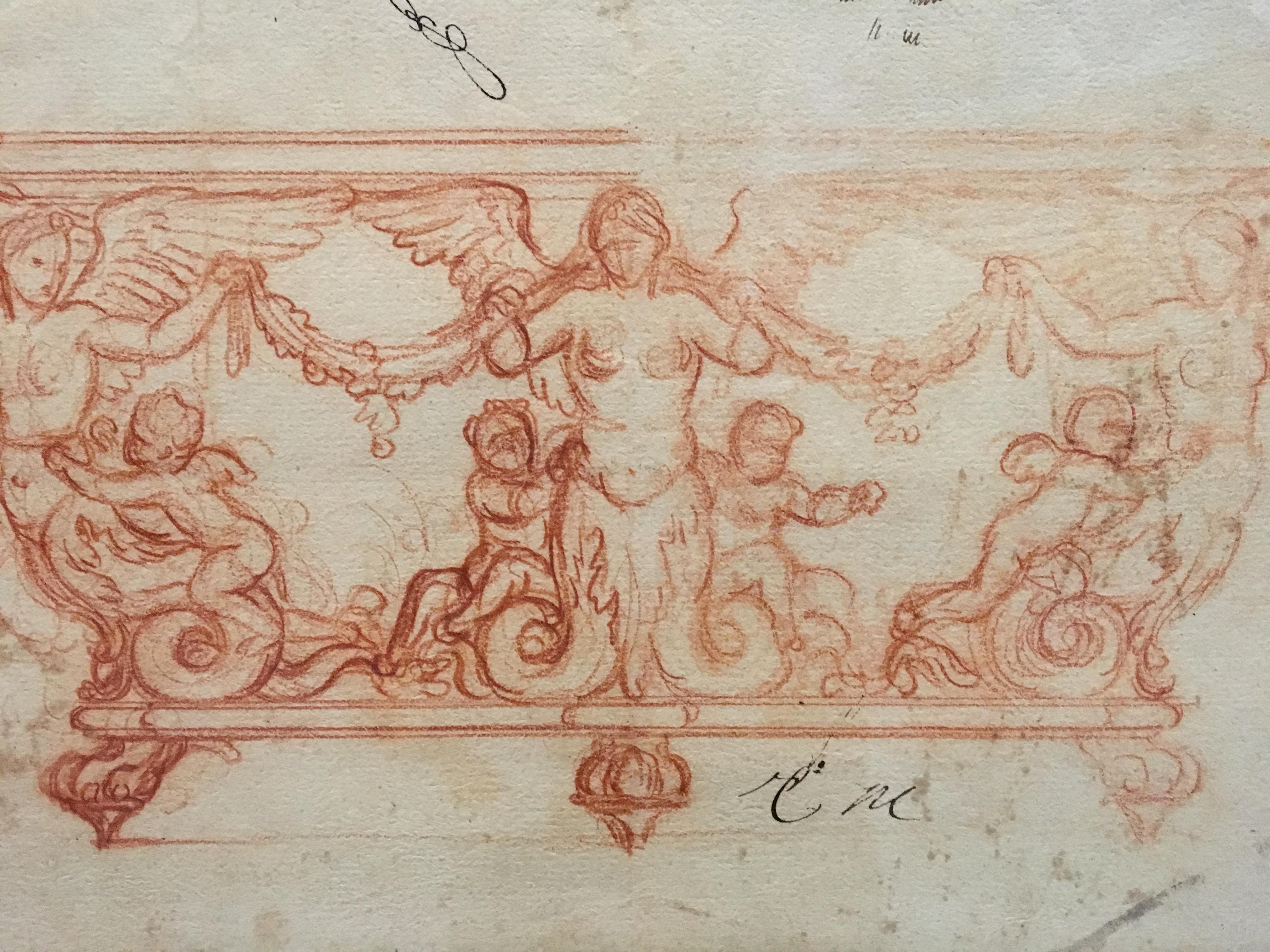 Charles Le Brun, Table-console, sanguine, vers 1670-1680, Paris ...