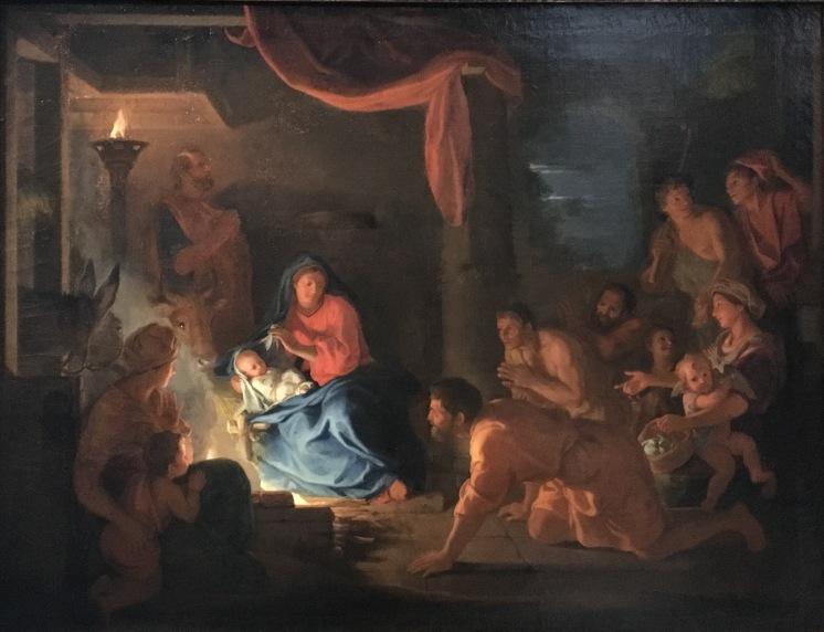 Charles Le Brun, L'Adoration des bergers, huile sur toile, 1689, Paris, musée du Louvre. © Damien Tellas