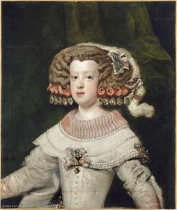 Diego Velázquez (et atelier), L'infante Marie-Thérèse, huile sur toile