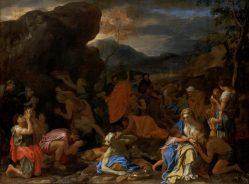 Charles Le Brun, Le Frappement du rocher, huile sur toile, vers 1648-1650, Paris, musée du Louvre. © Musée du Louvre