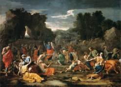 Nicolas Poussin, Les Israélites recueillant la manne dans le désert, huile sur toile, vers 1637-1639, Paris, musée du Louvre. © Musée du Louvre