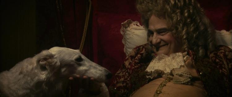 Louis XIV et un de ses lévriers