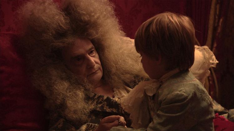 Louis XIV et son fils.