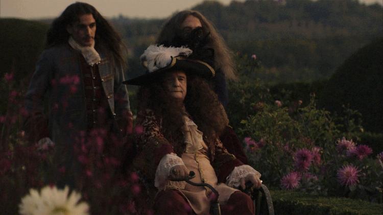 Louis XIV dans le jardin de son palais