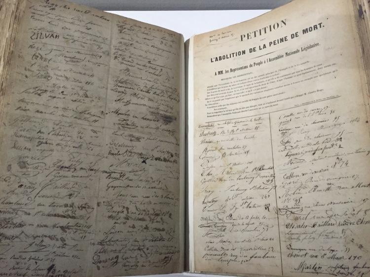 Victor Hugo, Pétition pour abolir la peine de mort, 1851