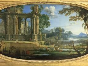 Pierre Patel, Paysage composé avec ruines antiques, huile sur toile, 1646-1647.
