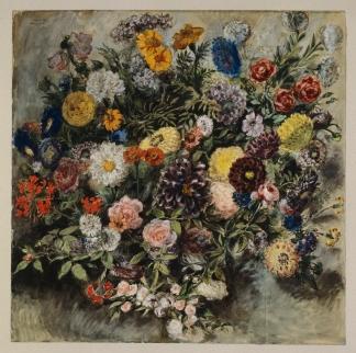 Eugène Delacroix, Bouquet de fleurs, aquarelle. © RMN-Grand Palais (musée du Louvre) / Michèle Bellot